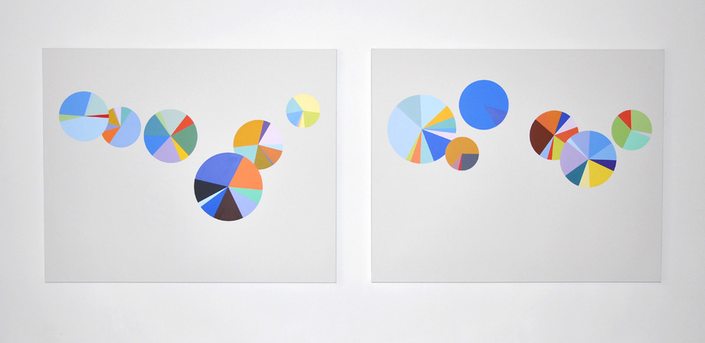 2010 oil on canvas, two paintings 72 x 56 inches each