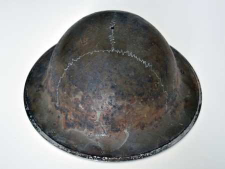 ready-made (WWI helmet), drawing